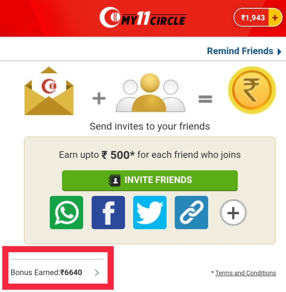 My11Circle Refer/Bonus Code & A to Z Detailed Guide 13