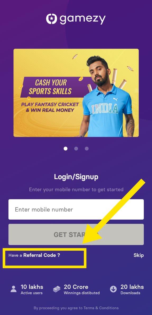 Gamezy App Download - Get Rs.50 | Refer & Earn | IPL Loot 1