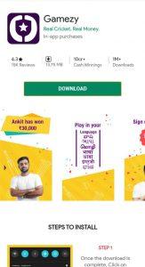 Gamezy App Download