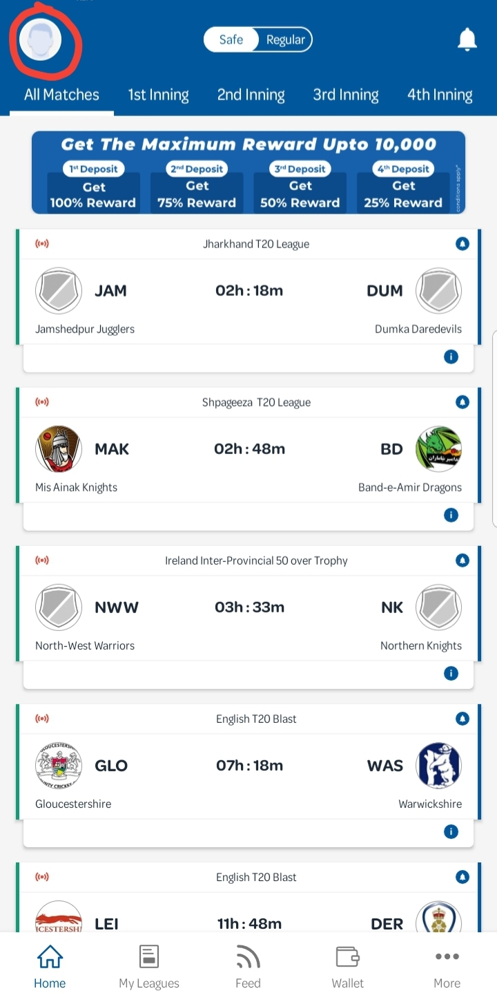 BatBall11 Referral Code | Rs.50 Sign up | Rs.50 per Refer 6