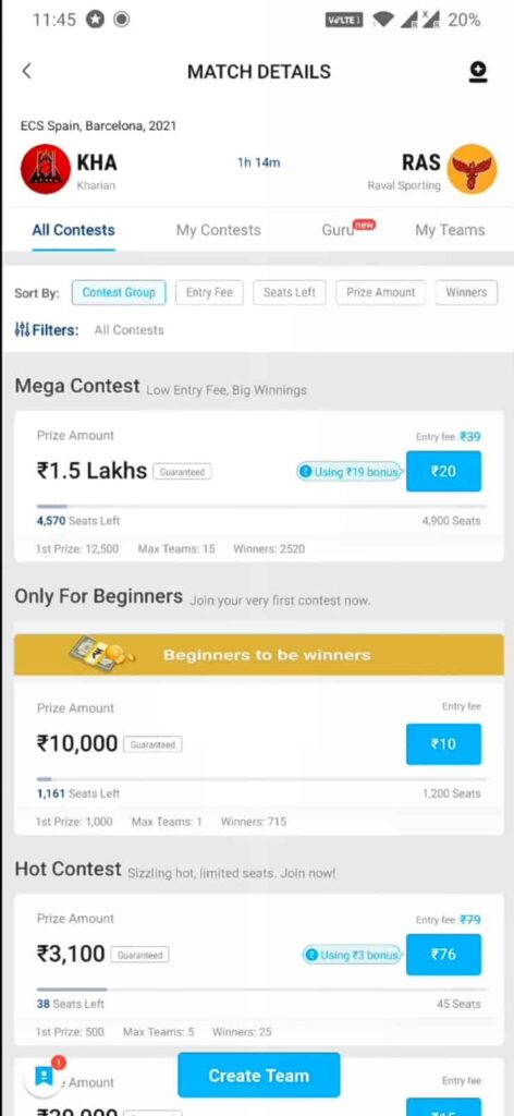 Play Fantasy League on Paytm First
