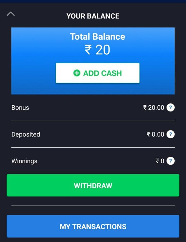 Fan2play wallet cash