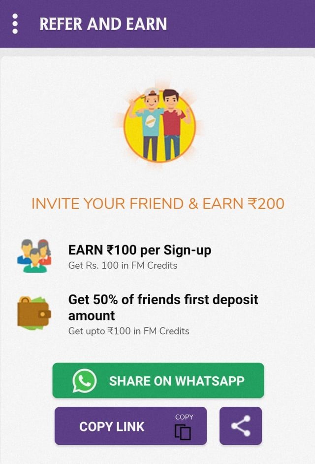 Fanmojo refer and earn
