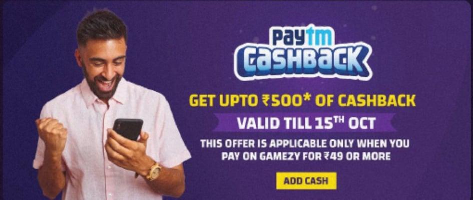 Gamezy paytm offer